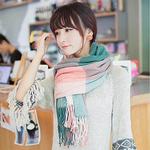 韓版超長圍巾