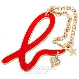 agnes b. 小b-logo吊飾帶鑽(愛心)