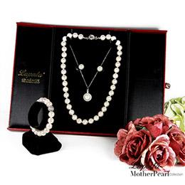 南洋貝寶珠項鍊 璀璨婚宴三件組