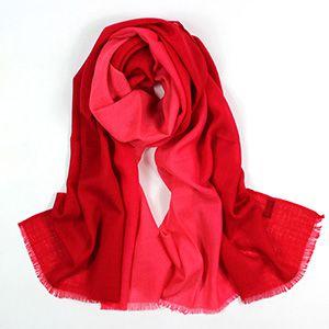 紅色漸變色系列圍巾