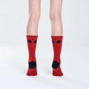 紅呆呆臉骷髏襪