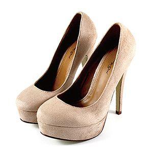 絕美素面麂皮高跟鞋