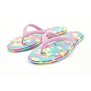 彩虹平底夾腳拖鞋