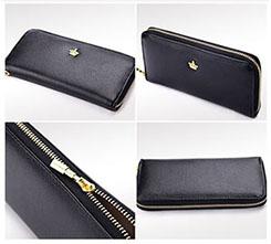 韓版軟皮珍珠棉錢包手拿包