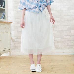 流雲雙層長紗裙