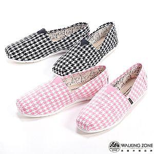千鳥格紋懶人鞋