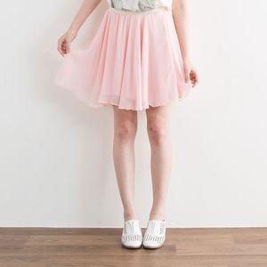 粉彩春漾雪紡圓裙