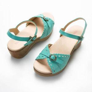 休閒厚底渡假楔型涼鞋
