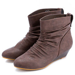 PAERA TI 內增高皺摺短靴