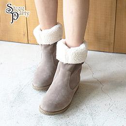 日本enchanted兩穿式捲捲毛中統靴