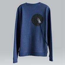 【摩達客】DBSW漂浮外太空長袖T恤