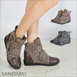 韓妞超愛狂賣款內增高接皮踝靴