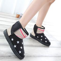 英倫國旗星星雪靴