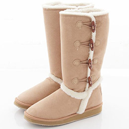 Alice's Rose牛角扣雪靴