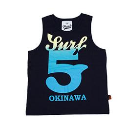 衝浪OKINAWA/黑色全棉背心