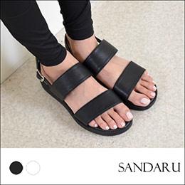 韓妞最愛.側釦厚底涼鞋