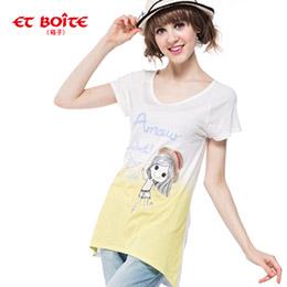 Amour草帽娃娃漸層T恤(2色)