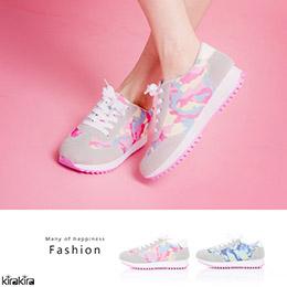 繽粉甜美運動風休閒布鞋-2色