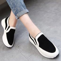 厚底磨砂撞色休閒鞋(3色)