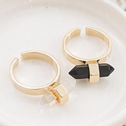 簡約主義結晶壓克力造型戒指