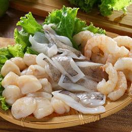 【三鮮拼盤】干貝+軟絲+蘆蝦仁