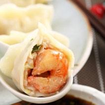 鮮蝦高麗菜水餃50粒+高麗菜黑豬肉水餃25粒