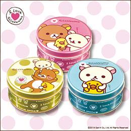 拉拉熊三色圓罐禮盒組★神戶風月堂餅乾