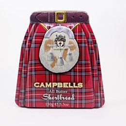 蘇格蘭裙奶油餅禮盒-浮雕鐵罐