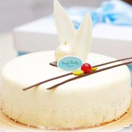 白色艾菲爾蛋糕 (6吋)