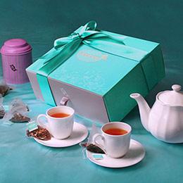 花漾藍絲禮盒【雙茶組】