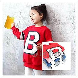 冬季 B字母款加絨加厚上衣