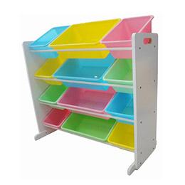 兒童玩具12格收納架