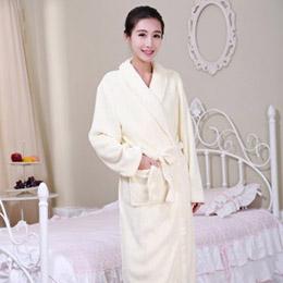 Gene Well 冬季珊瑚絨男士女士情侶睡袍(6色)