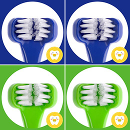 Dr. Barman's Superbrush兒童專用三面式牙刷《藍綠寶貝4入組》