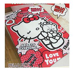 Hello Kitty40周年刷毛懶人毯