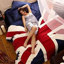 英國國旗天鵝絨超保暖4件套