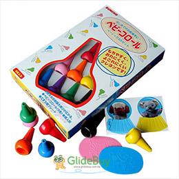 兒童專用安全蠟筆(8色+玩具)