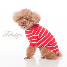 Fabrizio圓領立體壓摺條紋寵物衣