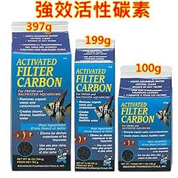 API美國魚博士濾材 強效活性碳素100g