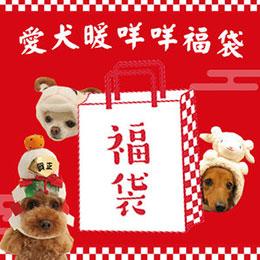 愛犬暖咩咩福袋-狗狗保暖毯/散步包/日本小零食