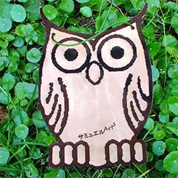 日本大眼貓頭鷹可愛壁飾