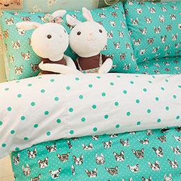 Tiffany dog 雙人床包組