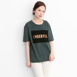 CHEERFUL印字T恤
