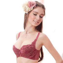 玫瑰金艷剪接款輕機能內衣