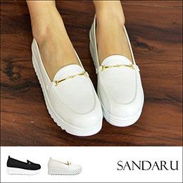 增高↗精緻金線扣厚底包鞋
