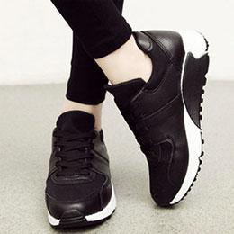 韓國熱賣皮質運動風休閒鞋