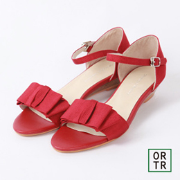 露趾蝴蝶結繫裸涼鞋(5色)