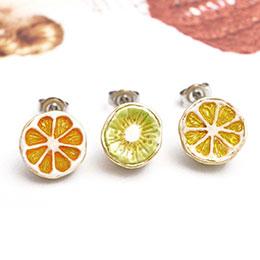 日本新鮮剖面水果派對耳環組
