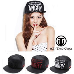 ANGRY字母平簷嘻哈棒球帽