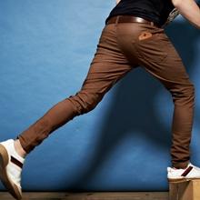 韓系彈力皮標概念保暖內刷毛休閒褲